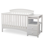 Abby Crib N Changer Bianca White Product Image