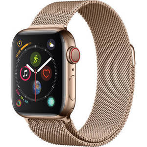 Watch Series 4 (GPS + Cellular, 40mm, Gold Stainless Steel, Gold Milanese Loop) Product Image