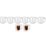 Sorrento 8pc Double Wall Glass Coffee Mug Set Product Image