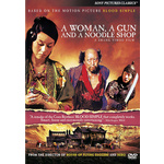 Woman a Gun & a Noodle Shop Product Image