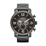 Mens Nate Smoke Stainless Steel Watch Gunmetal Fade Dial Product Image