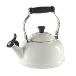 1.7qt Enamel on Steel Classic Whistling Kettle White Product Image