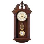 Ridgedale Chiming Wall Clock Walnut Finish Product Image
