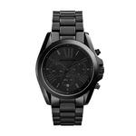 Unisex Bradshaw Chronograph Black SS Watch Black Dial Product Image
