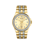 Mens Crystal Gold-Tone Watch w/ Swarovski Crystals Product Image
