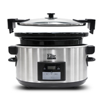 8.5 Qt Programmable Stainless Steel Slow Cook w/ Locking Lid Product Image
