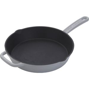 "Enameled 10"" Cast Iron Skillet - Gray Product Image"