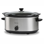 7 Qt Oval Stainless Steel Slow Cooker Product Image