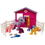 5 Ponies with Stables and Accessories Product Image