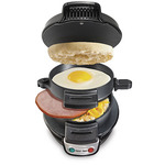 Breakfast Sandwich Maker Black Product Image