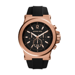 Mens Dylan Black Silicone Bracelet Watch Black Dial Product Image