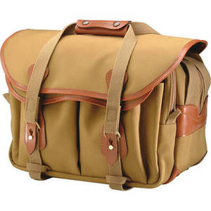335 Shoulder Bag (Canvas, Khaki with Tan Leather Trim) Product Image