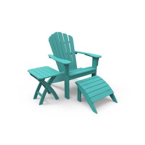 Harbor View Adirondack Chair & Accessories Package - Teal Product Image