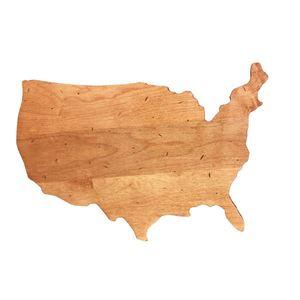 USA Shaped Board 15 x 10 x .625 - Maple Product Image