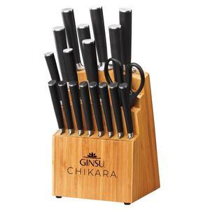 Chikara 19-Piece Knife Block Set - Bamboo Product Image