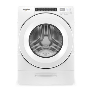 4.5 Cu Ft Front Load Washer w/ Load & Go Dispenser White Product Image