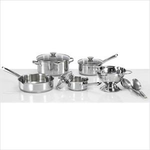 WearEver Stainless Steel Cook & Strain 10-Piece Cookware Set Product Image