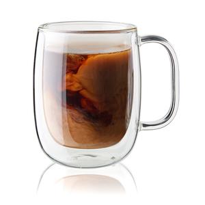 Sorrento Plus 2pc Double Wall Glass Coffee Mug Set Product Image