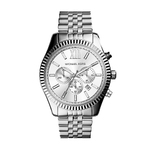 Mens Lexington Silver-Tone Watch Silver Dial Product Image