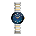 Ladies Modern Diamond Two-Tone Stainless Steel Watch Blue Mother-of-Pearl Product Image