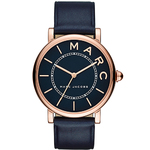 Ladies Roxy Navy Blue Leather Strap Watch Navy Blue Dial Product Image