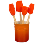 5pc Craft Series Silicone Utensil Set w/ Crock Flame Product Image
