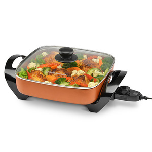 "11"" Nonstick Electric Skillet Copper Product Image"