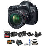 EOS 5D Mark IV DSLR Camera with 24-70mm f/4L Lens Deluxe Kit Product Image