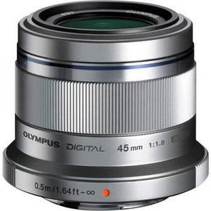 M.Zuiko Digital 45mm f/1.8 Lens (Silver) Product Image