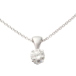 14k White Gold Diamond Necklace .15ct Product Image