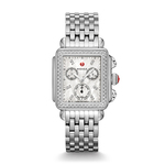 Ladies Signature Deco Silver-Tone Diamond Watch Mother of Pearl Product Image