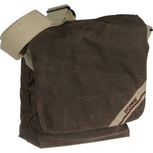 F-831 Small Photo Courier Bag (Brown RuggedWear Waxed Canvas) Product Image