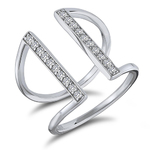 Contemporary Diamond Cuff Ring Product Image