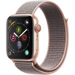 Watch Series 4 (GPS + Cellular, 44mm, Gold Aluminum, Pink Sand Sport Loop) Product Image