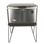 54 Qt Stainless Steel Belted Party Cooler Product Image