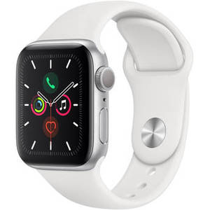 Watch Series 5 (GPS Only, 40mm, Silver Aluminum, White Sport Band) Product Image