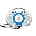 Tabeoke Portable Karaoke System White/Blue Product Image