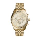 Michael Kors Mens Lexington Gold-Tone Watch Product Image