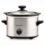 1.5 Qt Brushed Stainless Steel Slow Cooker Product Image
