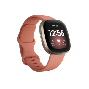 Fitbit Versa 3 (Pink Clay/Soft Gold Aluminum) Product Image