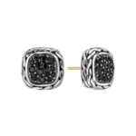 John Hardy Classic Chain Stud Earrings with Black Sapphire Product Image