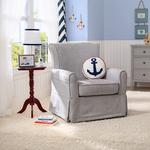 Benbridge Nursery Fabric Glider Swivel Rocker Chair Dark Gray Product Image
