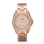 Ladies Riley Multifunction Rose-Tone Watch Rose Dial Product Image