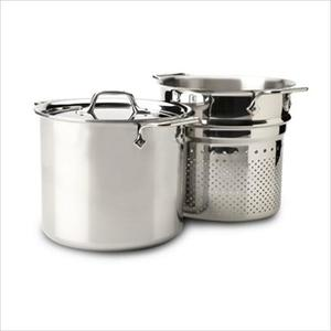 D3 Stainless Steel 7 Qt. Pasta Pentola with Insert & Lid Product Image