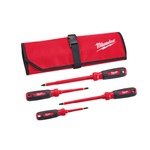 4pc 1000V Insulated Screwdriver Set w/ Roll Punch Product Image