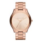 Michael Kors Slim Runway Ladies Rose Gold-Tone Watch Product Image