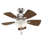 "Classic Watson 34"" Ceiling Fan Brushed Nickel Finish Product Image"