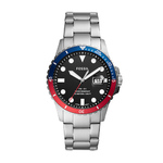 Mens FB-01 Silver-Tone Stainless Steel Watch Black Dial Product Image
