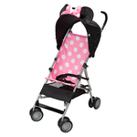 Pink Minnie DLX Umbrella Stroller w/ 3D Canopy & Basket Product Image