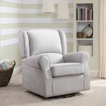 Morgan Nursery Fabric Glider Swivel Rocker Chair Dove Gray Product Image